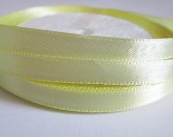 23 m satin ribbon yellow clear 6mm reel