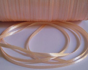 10 m 3mm peach satin ribbon