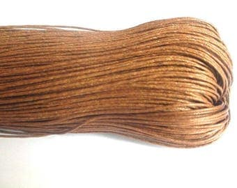 10 meters chocolat0.7mm Brown waxed cotton thread