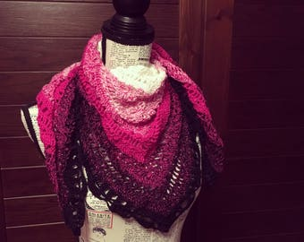 Gradient shawl crochet