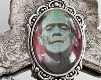 Frankenstein's monster pendant-horror movies classic-gothic jewelry-30x40mm-gothic necklace-horror movies necklace