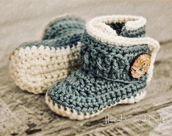 Crochet Pattern, Crochet Booties Pattern, Booties Pattern for Baby Boy, Crochet Baby Boy Booties