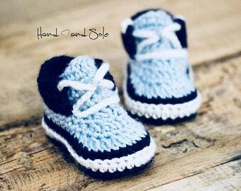 Crochet Pattern, Crochet Booties Pattern, Baby Booties Pattern, Crochet Baby Booties Pattern for Baby Boy, Crochet Sneaker Pattern