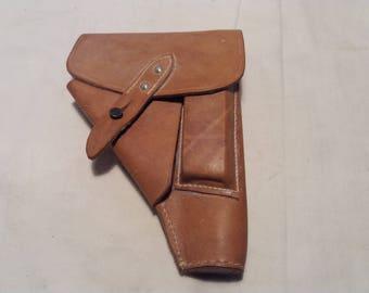 Vintage Light Brown Leather Holster for ,,AP'' Pistol - NEW