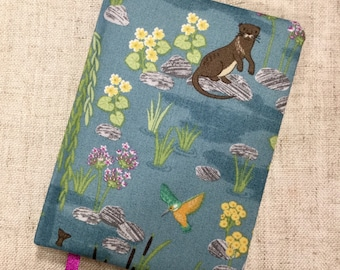 Fabric covered notebook / hand covered notebook / handmade stationary