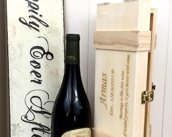 Engraved Wine Box - Personalized Wine Box - Custom Wine Box - Wedding Gift -  Wine Lovers Gift- bride gift- bridesmaid gift