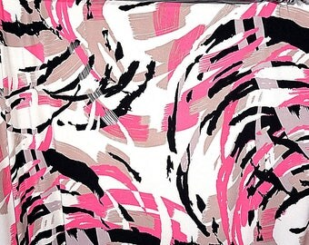 ITY Knit Lycra Poly Pink Swirls Fabric Apparel Tori Richards BTY