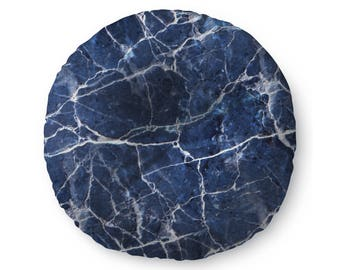 Blue Marble - floor pillow