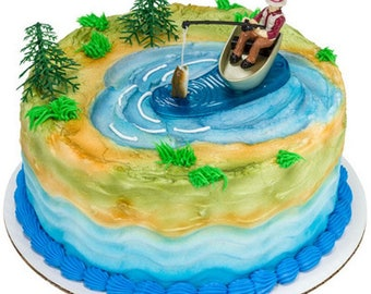Fish cake topper Etsy