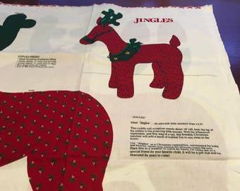 VIP Print Cranston  Jingles Reindeer  18 Inch Cut and Sew   Fabric Panel Cuddly Soft Sculpture Centerpiece Christmas Decor DIY