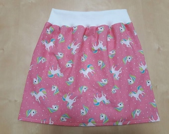 Cotton skirt unicorns pattern size 2 years, 3, 4 and 5 years