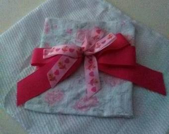 Shabby chic towel and wash cloth set