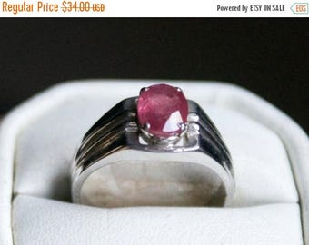 ON SALE Brilliant Ruby Silver Ring