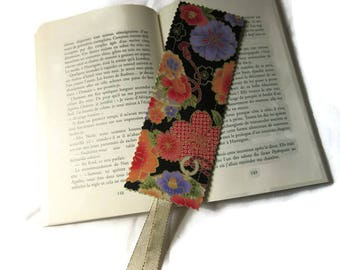 bookmarks, bookmark, Japanese fabric and multicolored Green
