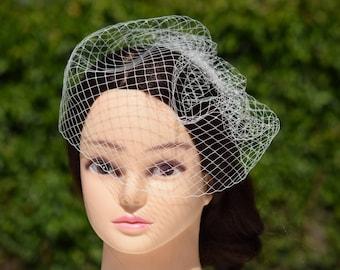 Birdcage Veil, Wedding Veil, Vintage Style Veil, Bridal Veil, Blusher Veil, Short Veil, Bridal Fascinator, Bridal Headpiece, Fascinator veil
