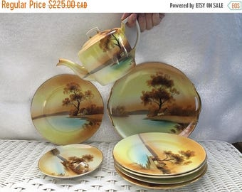 O Canada Sale Set of 9 pieces of Noritake China Dish Set - Tree in the Meadow - 1918