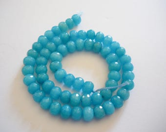 60 jade beads have faceted shield shape
