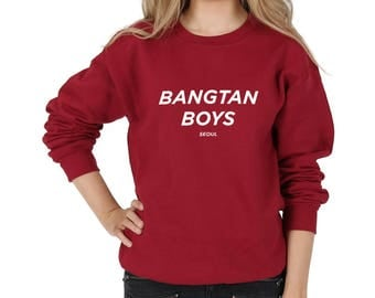 Bangtan Boys Seoul Sweatshirt Sweater Jumper Top Fashion Blogger Tumblr Kpop Fangirl BTS