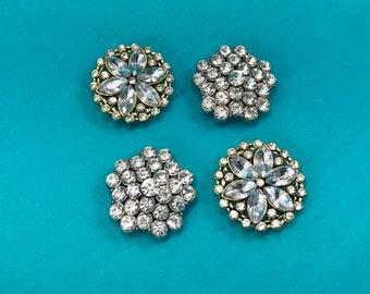 Clear Rhinestone Slider Beads/Rhinestone Double Strand Beads/Clear Stone Cord Beads/Jewelry Beads 4