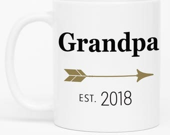 New Grandpa mug, Grandpa Mug, Baby Reveal to Grandpa, Gift for new Grandpa, Grandpa Coffee Mug, Pregnancy Reveal to Grandpa, Grandfather,