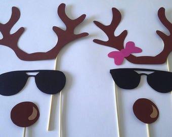 "Accessories photobooth x 6 ""Santa's reindeer"""