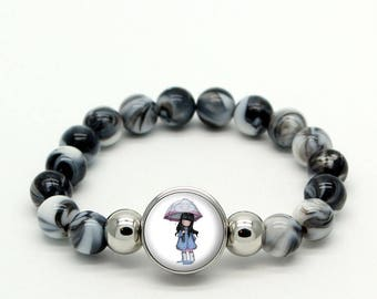 just tell me which choice gorjuss stone Beads Bracelet