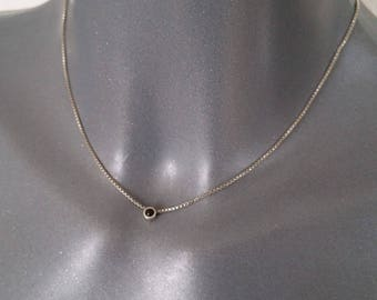 835 silver Venetian chain necklace black around SK106 with graceful pendant Onyx