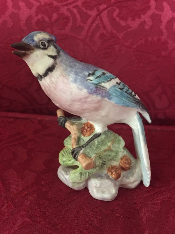 FREE SHIPPING-Royal Worcester-Blue Jay- Figurine
