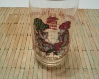 Holly Hobby Christmas glass