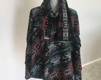 Polyester wool blend Lucy Wrap