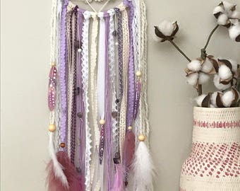 purple bedroom decor. Purple Dream Catcher  Nursery Decor Girls Birthday Gift Boho Bedroom bedroom decor Etsy