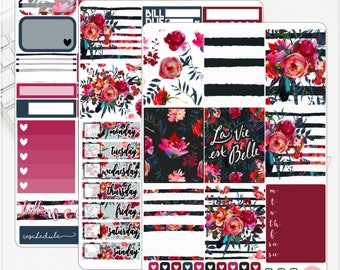 MINI/PERSONAL La Vie Est Belle Kit Erin Condren Lifeplanner™ Weekly Kit Planner Stickers