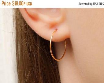 SALE - Hoop Earrings, Gold Hoop Earrings, Silver Hoop Earrings, Large hoop earrings, Simple Hoop Earrings, Classic Thin Hoop Earrings, Light