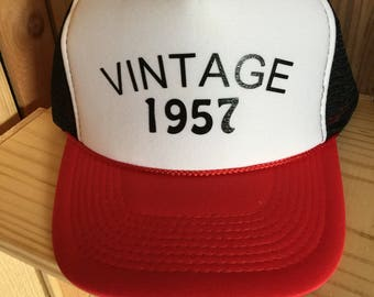 30th, 40th, 50th, 60th milestone birthday trucker hat