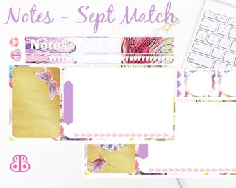 Notes Stickers | Sept Match