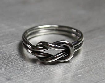SIZE 7 Sterling Silver Love Knot Ring
