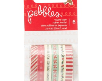 American Crafts | Pebbles | Merry Merry | Washi Tape 32.8 Yards