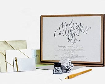 Calligraphy Kit by Kirsten Burke - Beginners Gift Set - Adult Starter Kit