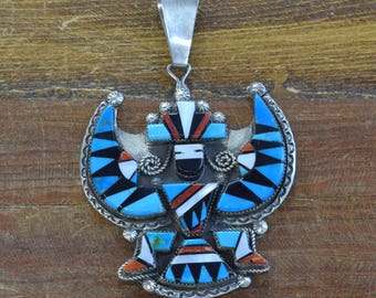 Vintage Knifewing Kachina Inlay Pendant