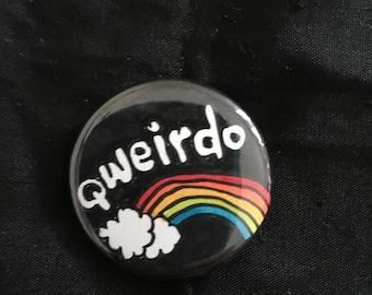 "qweirdo 1.25"" pinback button (b)"