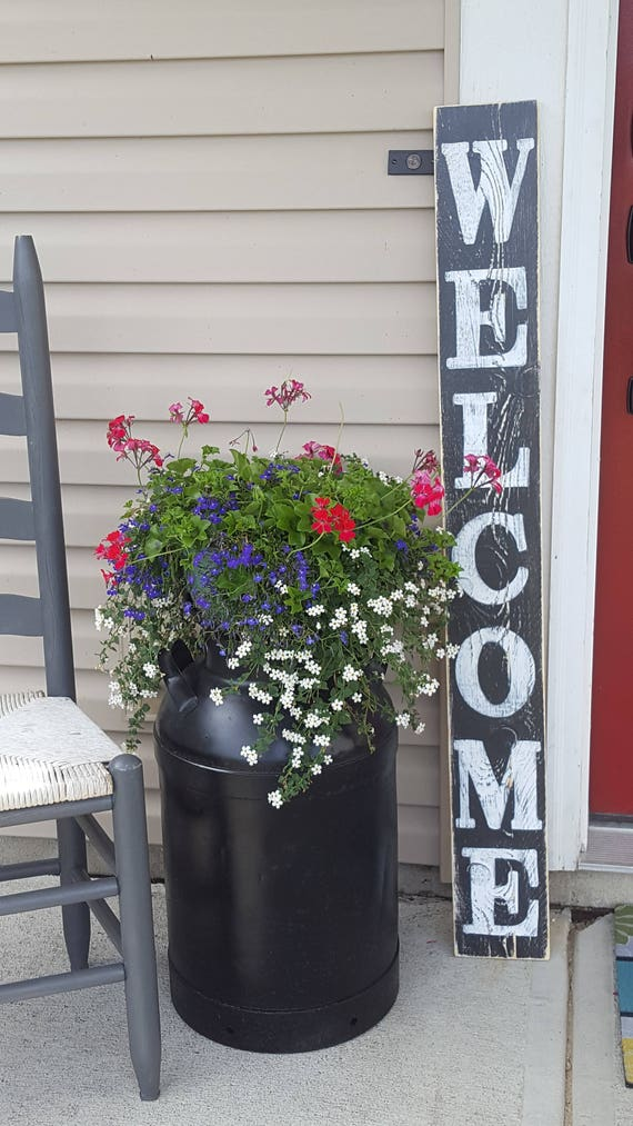Front Door Sign Part - 35: Vertical Welcome Sign, Entryway Sign, Front Door Sign, Porch Sign, Hand  Painted Sign, Wood Sign, Rustic Sign, Distressed Sign, Housewarming
