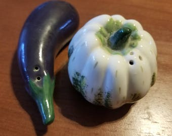 Fitz and Floyd Vegetable Garden Salt and Pepper Shakers