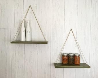 Hanging Shelves suspended plant shelf barn wood hanging shelf indoor
