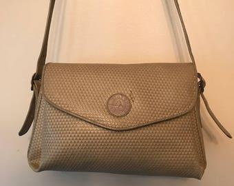 Vintage Bag- Vintage 1980s Liz Claiborne Taupe Crossbody Bag
