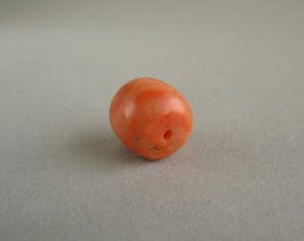 Antique  natural Mediterranean coral bead, Natural color coral, Jewelry coral. Free shipping!!!
