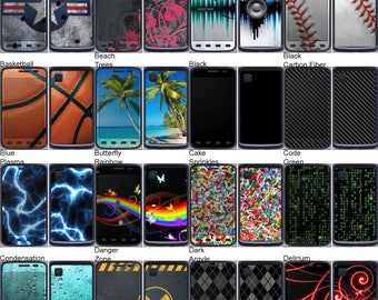 Choose Any 2 Designs - Vinyl Skins / Decals / Stickers for LG Optimus Dynamic II - Android Smartphone