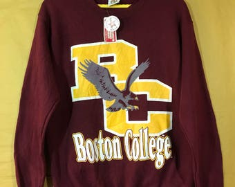 Nos With Tags Vintage 70s 80s Boston College By College Sportswear Sweatshirt Adult Medium Size