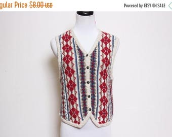 25% OFF VTG 90s Argyle Button Denim Grandpa Striped Knit Vest S