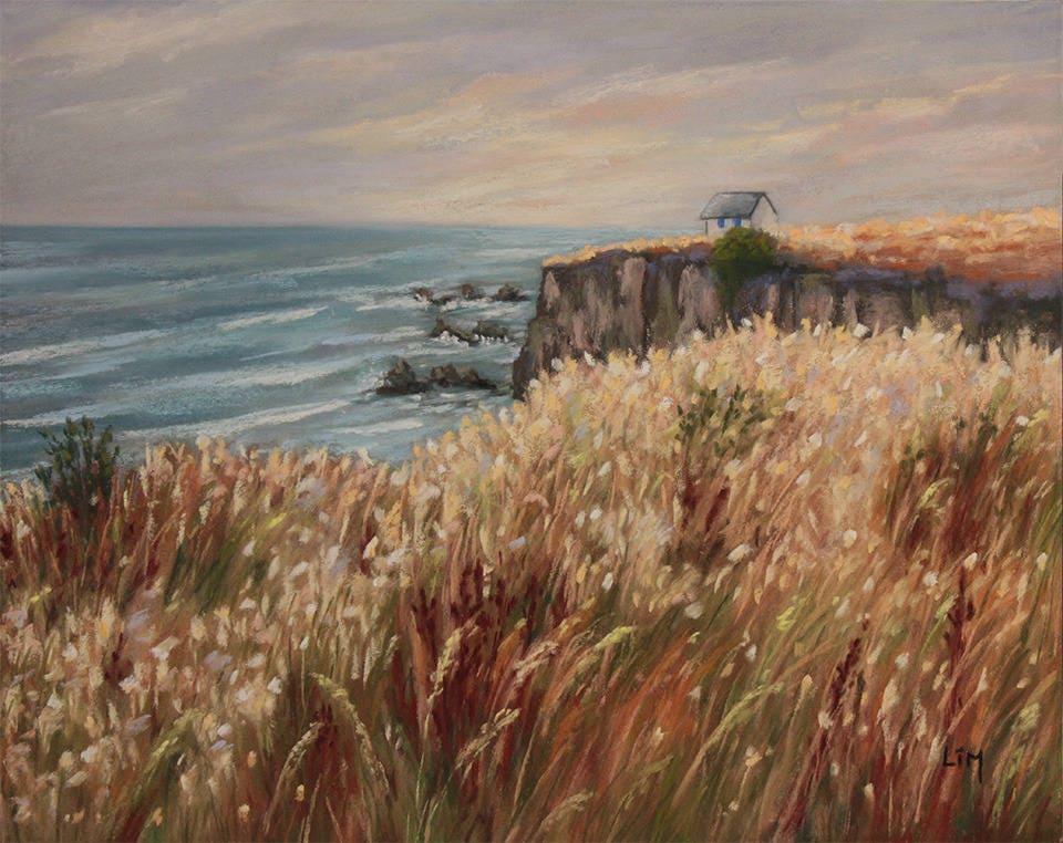 Préférence Peinture au pastel sec Paysage de bord de mer en Bretagne EB68