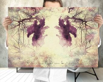 Boho Art Printable - Tree Branch Art Print - Ink Blot Art - Meditation Art - Printable Art - Nature Inspired - Spiritual Gift - Indie Art